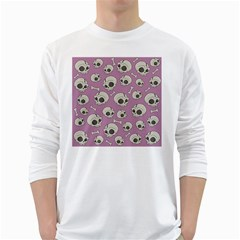 Halloween Skull Pattern Long Sleeve T Shirt