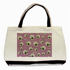 Halloween Skull Pattern Basic Tote Bag (two Sides)