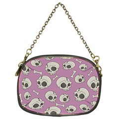 Halloween Skull Pattern Chain Purse (two Sides)