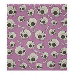 Halloween Skull Pattern Shower Curtain 66  X 72  (large)