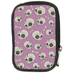 Halloween Skull Pattern Compact Camera Leather Case
