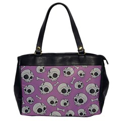 Halloween Skull Pattern Oversize Office Handbag