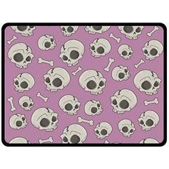 Halloween Skull Pattern Fleece Blanket (large)
