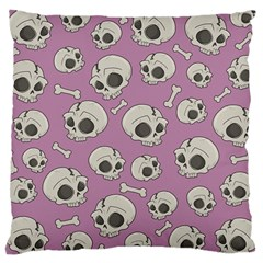 Halloween Skull Pattern Large Cushion Case (two Sides)