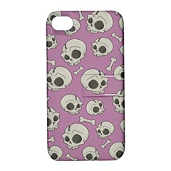 Halloween Skull Pattern Apple Iphone 4/4s Hardshell Case With Stand
