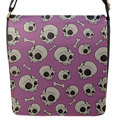 Halloween Skull Pattern Flap Closure Messenger Bag (s) by Valentinaart