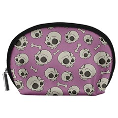 Halloween Skull Pattern Accessory Pouch (large)