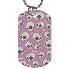 Halloween Skull Pattern Dog Tag (two Sides)