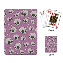Halloween Skull Pattern Playing Cards Single Design