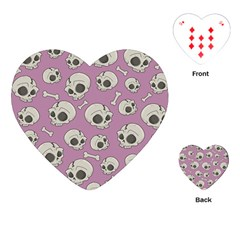 Halloween Skull Pattern Playing Cards (heart)