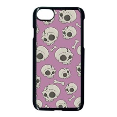 Halloween Skull Pattern Apple Iphone 7 Seamless Case (black)