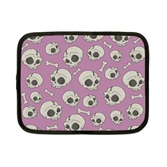 Halloween Skull Pattern Netbook Case (small)