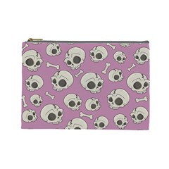 Halloween Skull Pattern Cosmetic Bag (large)