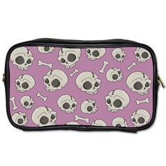 Halloween Skull Pattern Toiletries Bag (one Side)