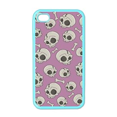Halloween Skull Pattern Apple Iphone 4 Case (color)