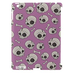 Halloween Skull Pattern Apple Ipad 3/4 Hardshell Case (compatible With Smart Cover)