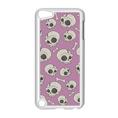 Halloween Skull Pattern Apple Ipod Touch 5 Case (white) by Valentinaart