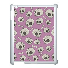Halloween Skull Pattern Apple Ipad 3/4 Case (white) by Valentinaart
