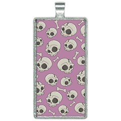 Halloween Skull Pattern Rectangle Necklace