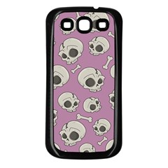 Halloween Skull Pattern Samsung Galaxy S3 Back Case (black)