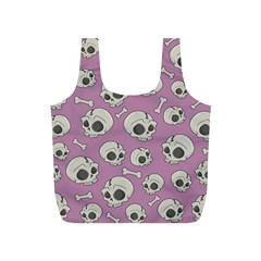 Halloween Skull Pattern Full Print Recycle Bag (s)