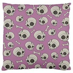 Halloween Skull Pattern Large Flano Cushion Case (one Side)