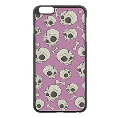 Halloween Skull Pattern Apple Iphone 6 Plus/6s Plus Black Enamel Case