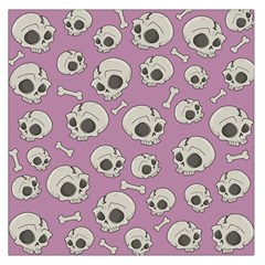 Halloween Skull Pattern Large Satin Scarf (square)