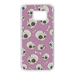 Halloween Skull Pattern Samsung Galaxy S7 White Seamless Case