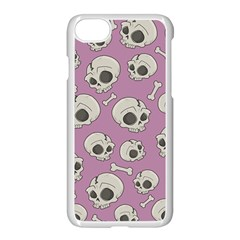 Halloween Skull Pattern Apple Iphone 7 Seamless Case (white)