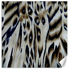 Tiger Background Fabric Animal Motifs Canvas 20  X 20  by Jojostore