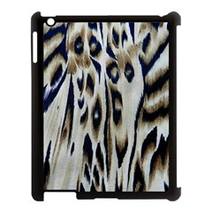 Tiger Background Fabric Animal Motifs Apple Ipad 3/4 Case (black) by Jojostore