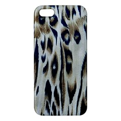 Tiger Background Fabric Animal Motifs Apple Iphone 5 Premium Hardshell Case by Jojostore