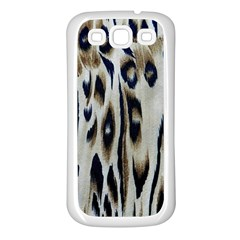 Tiger Background Fabric Animal Motifs Samsung Galaxy S3 Back Case (white) by Jojostore