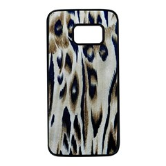 Tiger Background Fabric Animal Motifs Samsung Galaxy S7 Black Seamless Case
