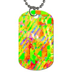 Cheerful Phantasmagoric Pattern Dog Tag (one Side) by Jojostore