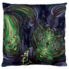 Backdrop Background Abstract Large Flano Cushion Case (one Side) by Jojostore