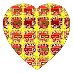 Funny Faces Jigsaw Puzzle (heart) by Jojostore
