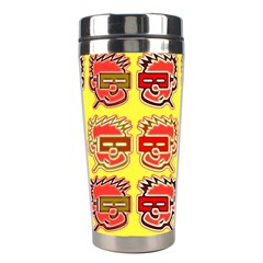 Funny Faces Stainless Steel Travel Tumblers by Jojostore