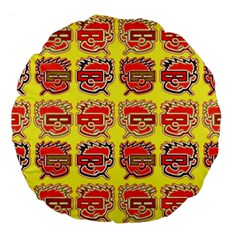 Funny Faces Large 18  Premium Flano Round Cushions