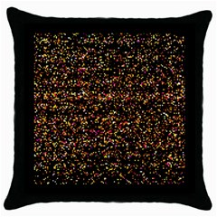 Colorful And Glowing Pixelated Pattern Throw Pillow Case (black) by Jojostore