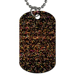 Colorful And Glowing Pixelated Pattern Dog Tag (one Side) by Jojostore