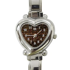 Colorful And Glowing Pixelated Pattern Heart Italian Charm Watch by Jojostore