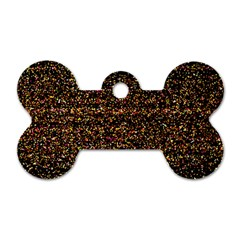 Colorful And Glowing Pixelated Pattern Dog Tag Bone (one Side) by Jojostore