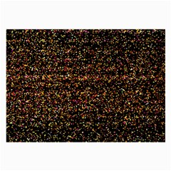 Colorful And Glowing Pixelated Pattern Large Glasses Cloth by Jojostore
