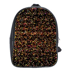 Colorful And Glowing Pixelated Pattern School Bag (large) by Jojostore