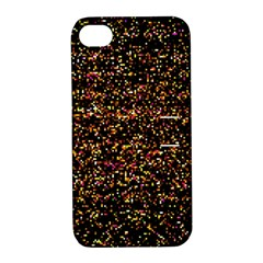 Colorful And Glowing Pixelated Pattern Apple Iphone 4/4s Hardshell Case With Stand by Jojostore