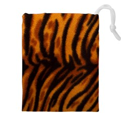 Animal Background Cat Cheetah Coat Drawstring Pouch (xxl) by Jojostore