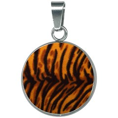 Animal Background Cat Cheetah Coat 20mm Round Necklace