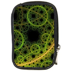 Abstract Circles Yellow Black Compact Camera Leather Case by Jojostore